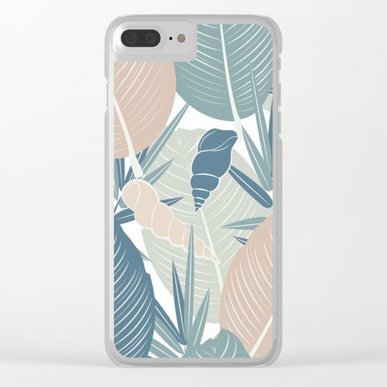 LEAVES AND SHELLS Clear iPhone Case