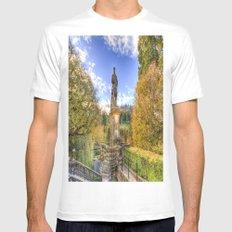 Allan Ramsey And Edinburgh Castle Mens Fitted Tee White MEDIUM