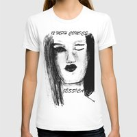 jessica lange T-shirts featuring Jessica by Evelyn Watkins