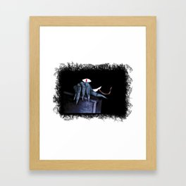 The hidden Monster in the closet Framed Art Print
