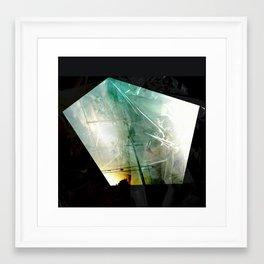 turquoise city Framed Art Print