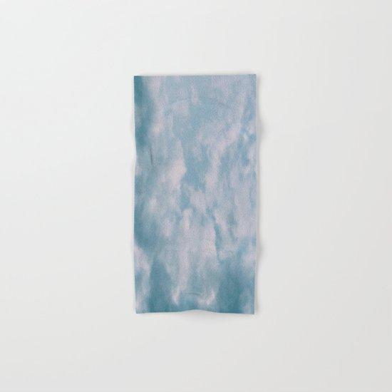 Fluffy Blue Clouds Hand & Bath Towel