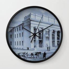 Providence Arcade Original Rendering - Providence, Rhode Island Wall Clock