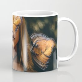 Portrait with butterflies Coffee Mug