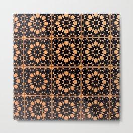 Arabic Tiles Metal Print