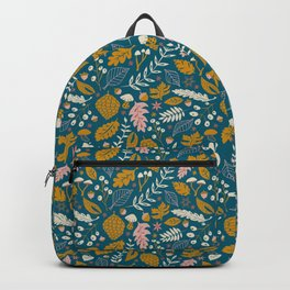 Fall Foliage in Blue and Gold Backpack