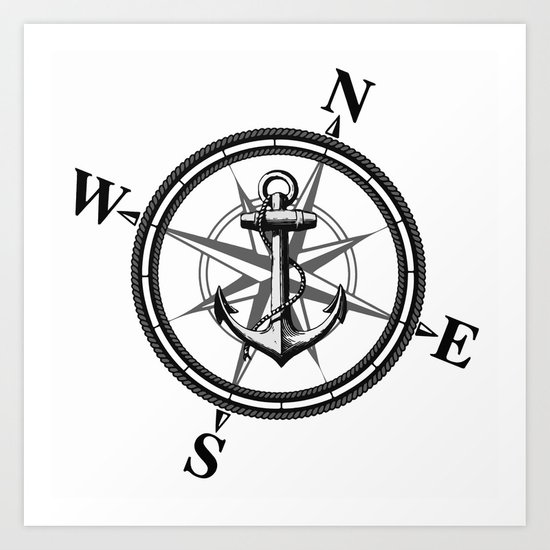 Nautica BW Art Print