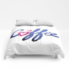 Coffee Lover Typography Comforters