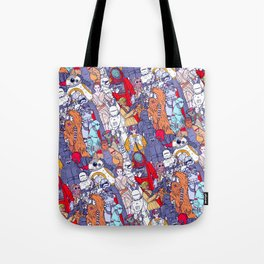 Smaller Space Toons in Color Tote Bag