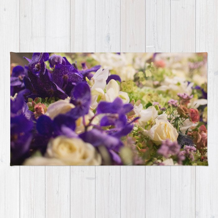 Bouquet of flowers, violets Rug