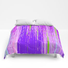 Linear Abstract Purple Comforters