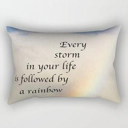Every Storm is Followed by a Rainbow Rectangular Pillow