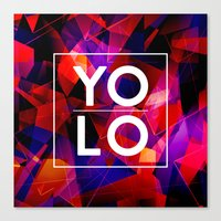 sayings Canvas Prints featuring Dreams of YOLO Vol.2 by HappyMelvin