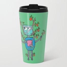 Robot Disguised as an Orange Tree Travel Mug