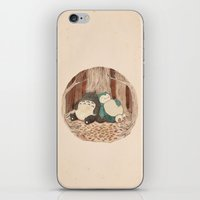 snorlax iPhone & iPod Skins featuring Best Friends Forevah by Najmah Salam