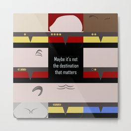 Maybe it's not the Destination that matters - square - Star Trek: Voyager VOY  trektangle minimalist Metal Print