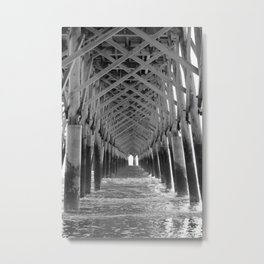 Through the Pier Metal Print