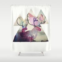 spirit Shower Curtains featuring The spirit VI by Laure.B