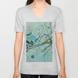 Vassily Kandinsky Composition VIII, 1923 Unisex V-Neck