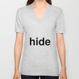 hide Unisex V-Neck