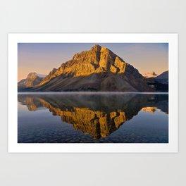 Reflections at Bow Lake Art Print