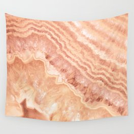 Champagne onyx marble Wall Tapestry