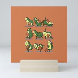 Avocado Yoga For A Flat Tummy Mini Art Print