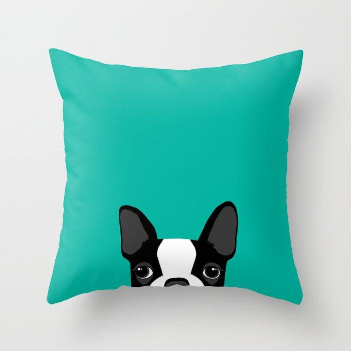 Boston Terrier Throw Pillow By Annewashere Society40 Impressive Boston Terrier Decorative Pillow