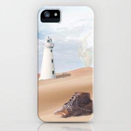 Surreal Desert - original collage in Sci-Fi style iPhone Case