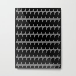 Black Dog Tooth Design Metal Print