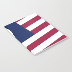 Peace and Love USA Flag Notebook