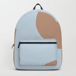 Brown Pastel Blue Minimal Half Circle Design 2021 Color of the Year Canyon Dusk & Blue Me Away Backpack