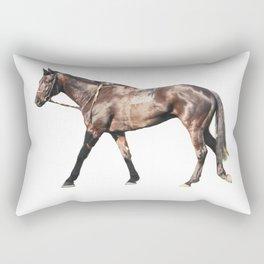 Thoroughbred Racehorse Rectangular Pillow