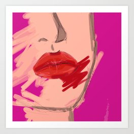 Red Lip Stain Art Print