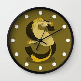 Monogram S Pony Wall Clock