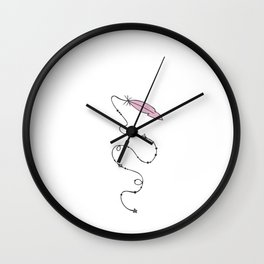 Hand Drawn Illustrations Magical Feather Gift Wall Clock
