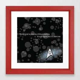 Spock Quote Framed Art Print