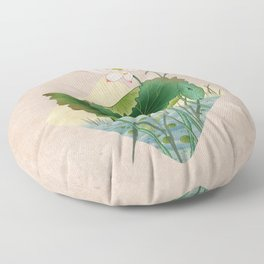 lotursflowers A : Minhwa-Korean traditional/folk art Floor Pillow