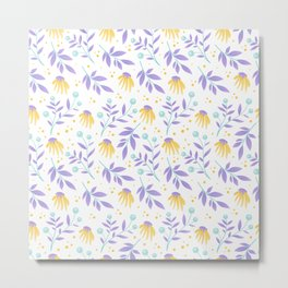 Yellow flowers and purple leaves Metal Print