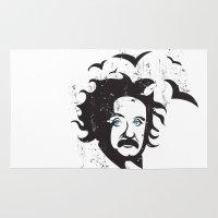 einstein Area & Throw Rugs featuring Einstein by KaytiDesigns