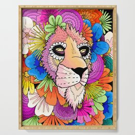 Flower Lion Serving Tray