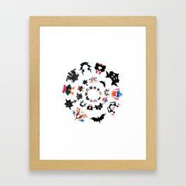 circle of Rorschach test Ink blots ! Framed Art Print