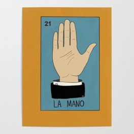 La Mano Card (Traditional) Poster