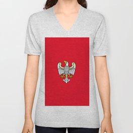 flag of Wielkopolskie or Greater Poland Unisex V-Neck