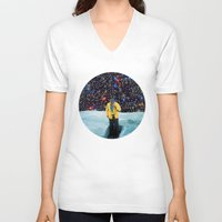 portal V-neck T-shirts featuring PORTAL  by Blaz Rojs