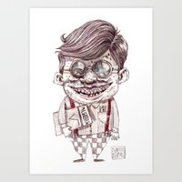 nerd Art Prints featuring NERD by Masss Petrone