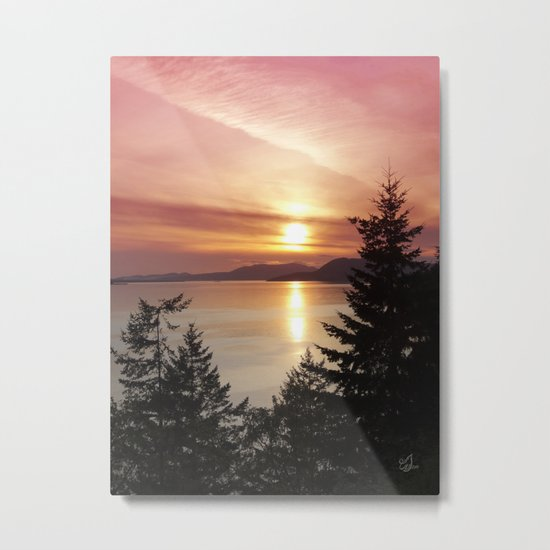 Sunset Colors Metal Print