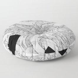Opposing Insecurities Floor Pillow