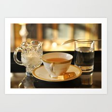 Tea and Chocolates Art Print