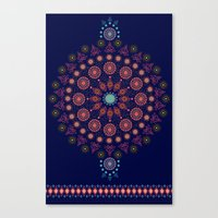 nordic Canvas Prints featuring Nordic Star by RED ROAD STUDIO